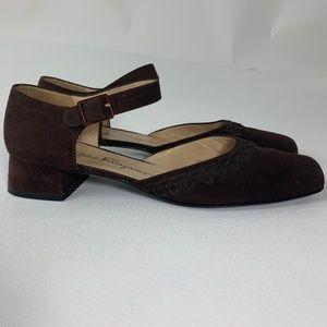 Vintage Ferragamo Boutique Suede Mary Janes  10